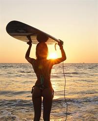 Jessica Goicoechea in a bikini - ass