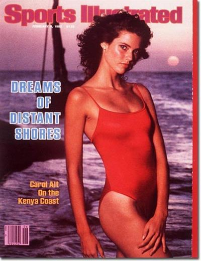 Carol Alt - February 8, 1982. Sports Illustrated Swimsuit Cover