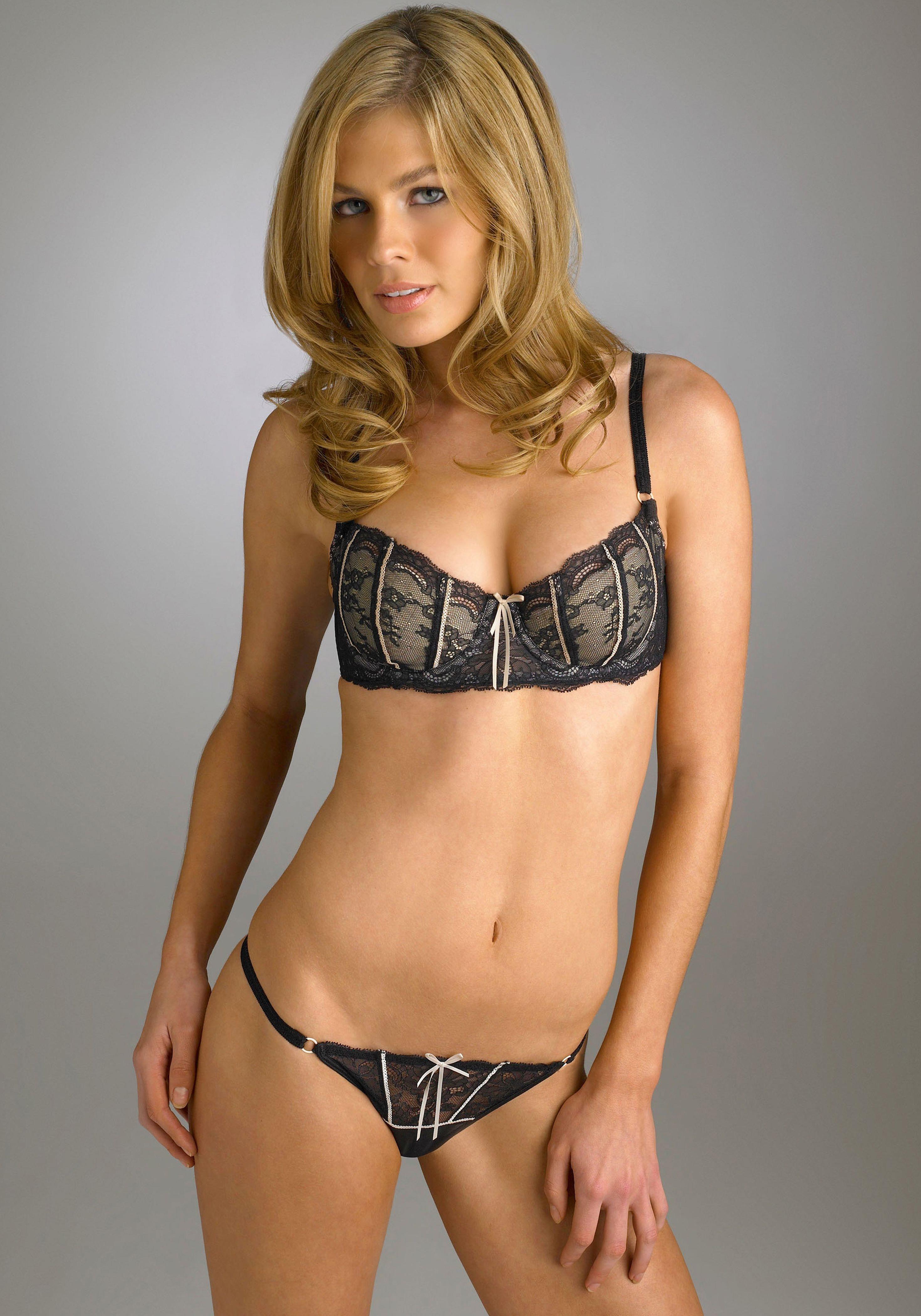 Caitlin Manley in lingerie