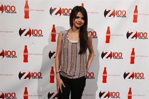 Selena Gomez Z100 Coca Colas all access lounge pre show in New York City December 10, 2010