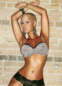 Amber Rose in lingerie