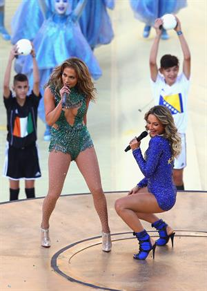 Jennifer Lopez performs during the Opening Ceremony of the 2014 FIFA World Cup Brazil June 12, 2014