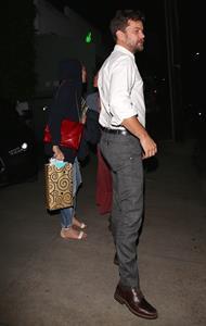 Diane Kruger and Joshua Jackson leaving Giorgio Baldi June 11, 2014