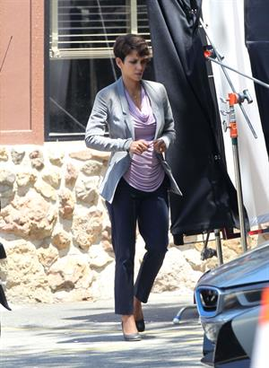 Halle Berry on set of Extant in Agoura Hills June 10, 2014