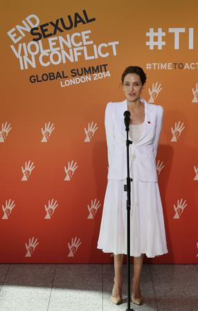 Angelina Jolie Global Summit To End Sexual Violence In Conflict June 10, 2014