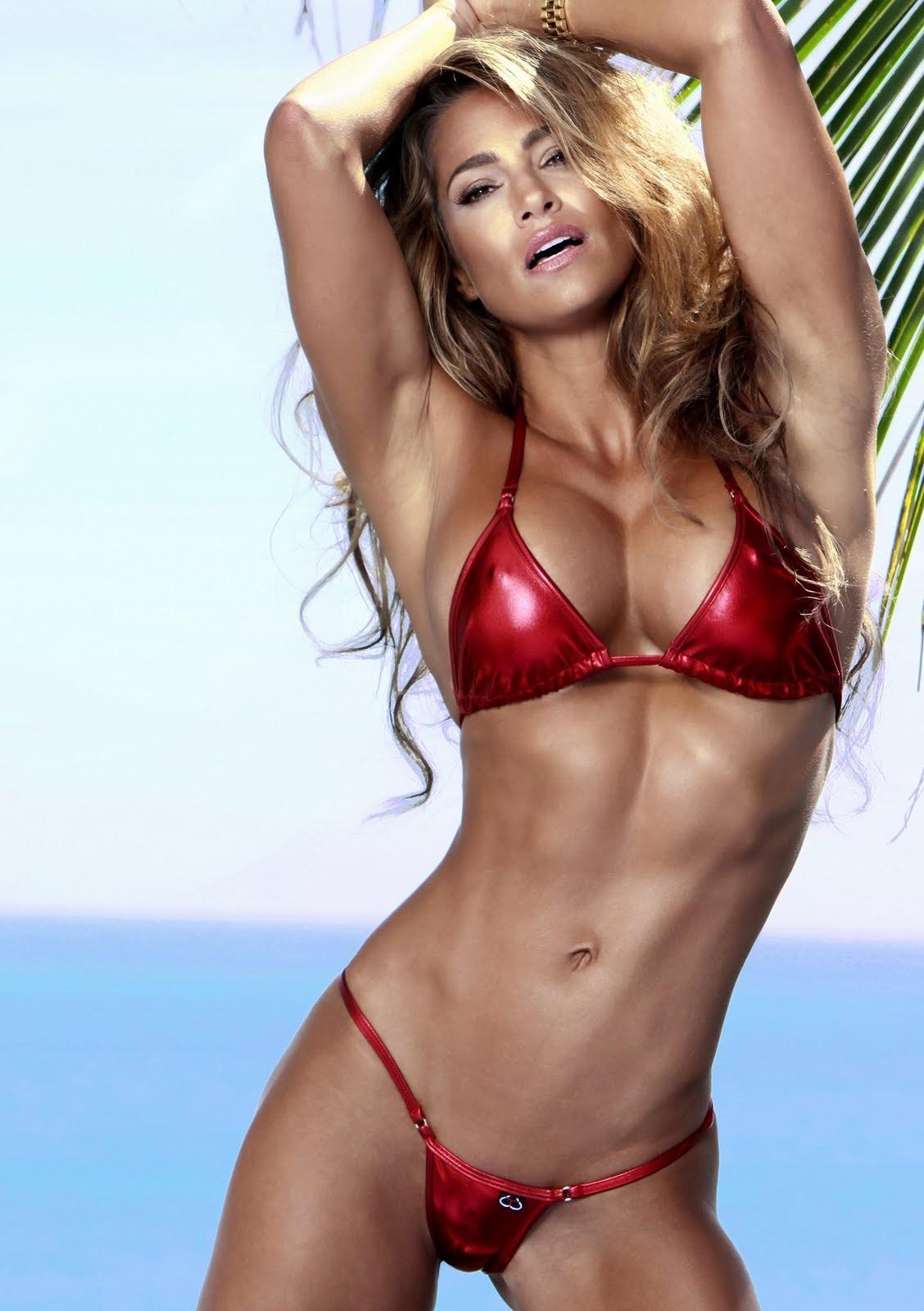 Jennifer Nicole Lee in a bikini