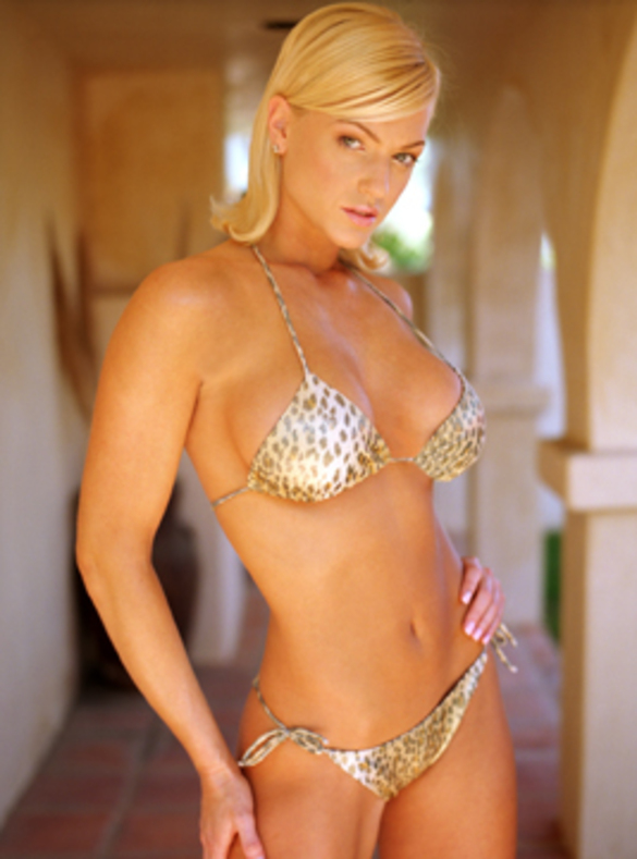 Heather Kozar in a bikini
