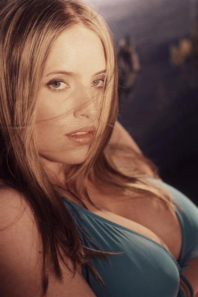 Maggie Green in a bikini
