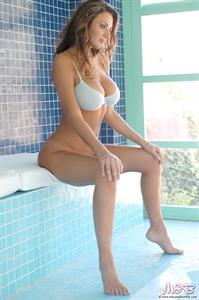 Erica Loveless in lingerie