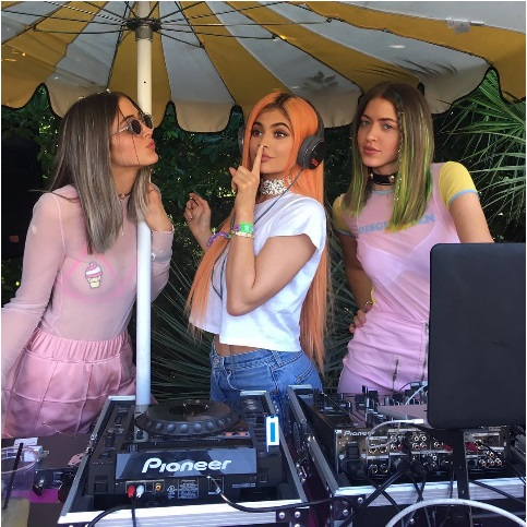 Kylie Jenner DJ playing
