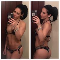 Bella Falconi in a bikini taking a selfie and - ass