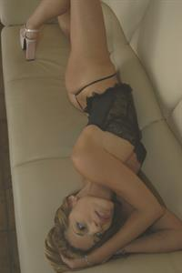 Leigh Silver in lingerie
