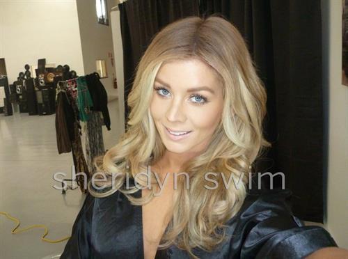 Sheridyn Fisher taking a selfie