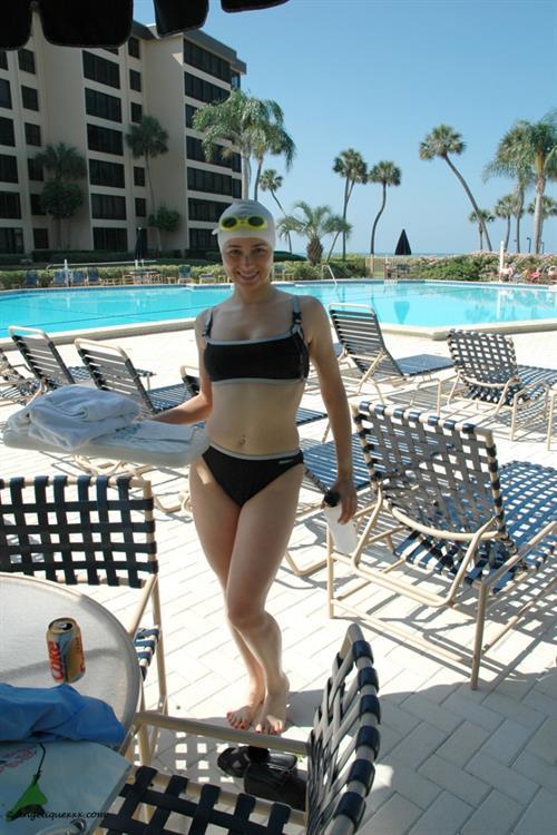 Angelique Leclair in a bikini