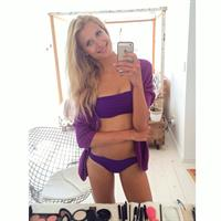 Kimberley Mens in a bikini taking a selfie