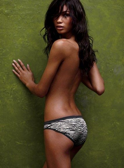 Chanel Iman in lingerie - ass
