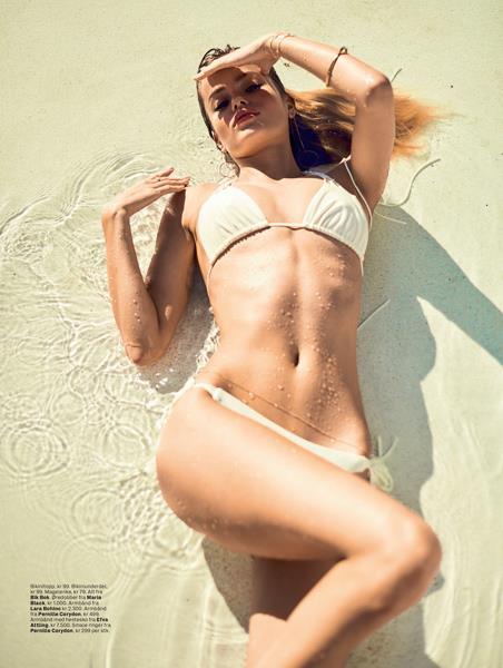 Frida Aasen in a bikini