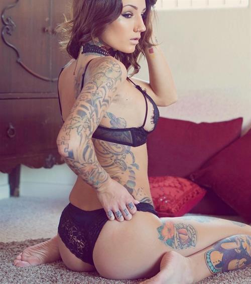 Brin Amberlee in lingerie