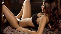 Alice Goodwin in lingerie