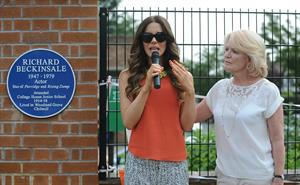 Kate Beckinsale Richard Beckinsale plaque unveiled at College House Junior School in Nottingham July 17-2013