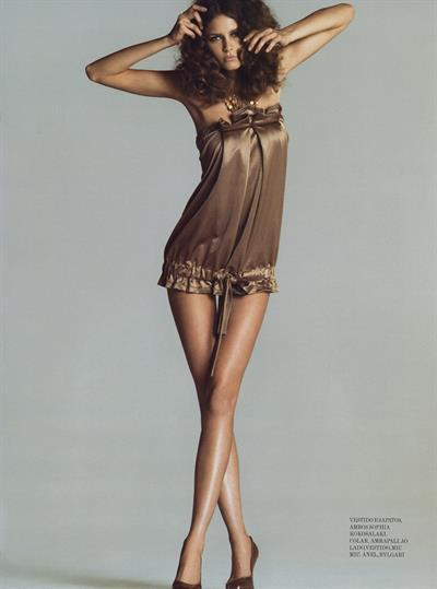 Flavia de Oliveira in lingerie