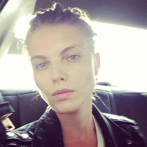 Maryna Linchuk taking a selfie