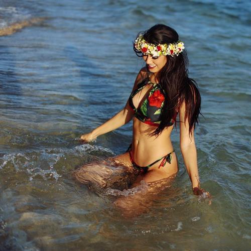 Katie Daly in a bikini