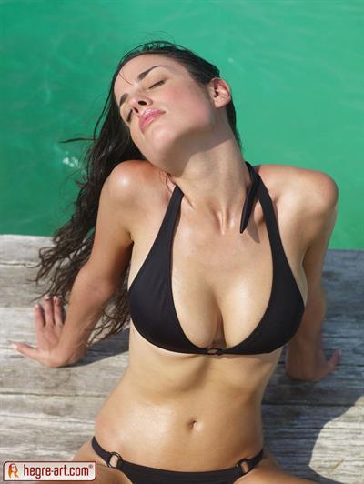 Muriel in a bikini