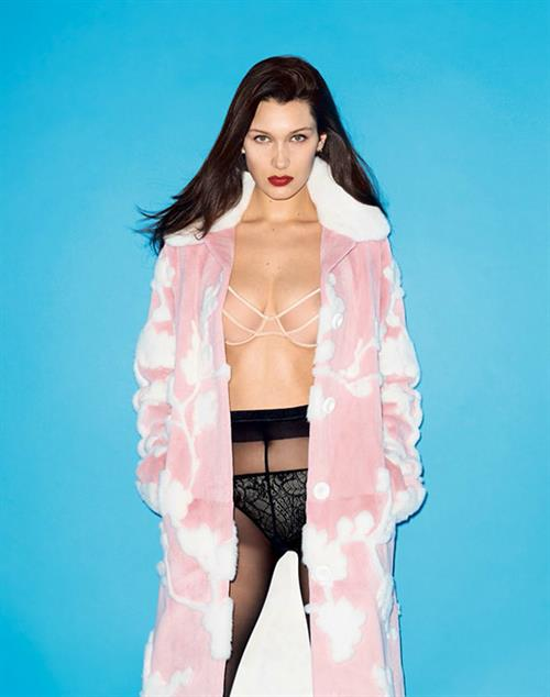 Bella Hadid in lingerie