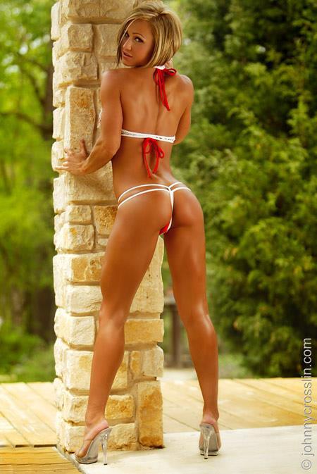 Jaime Eason in a bikini - ass