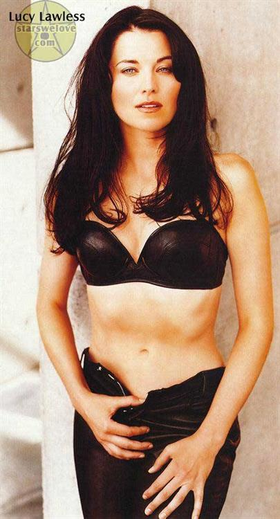 Lucy Lawless in lingerie