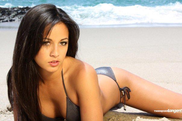 Ashley Monzon in a bikini