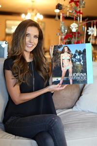 Audrina Patridge Posing with her new 2013 calender 26.12.12