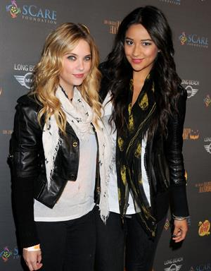 Ashley Benson and Shay Mitchell at 3rd Annual Los Angeles Haunted Hayride