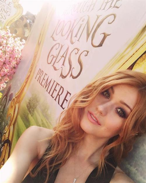 Katherine McNamara taking a selfie