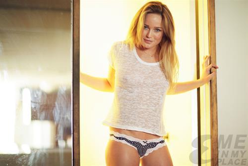 Caity Lotz in lingerie