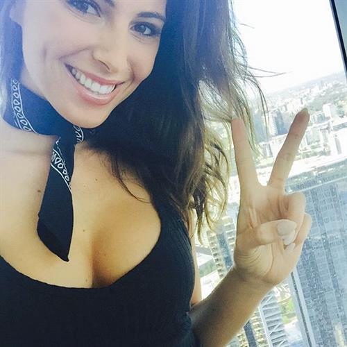 Brittny Ward taking a selfie