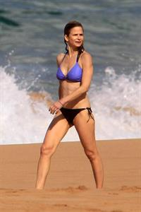 Kyra Sedgwick in a bikini