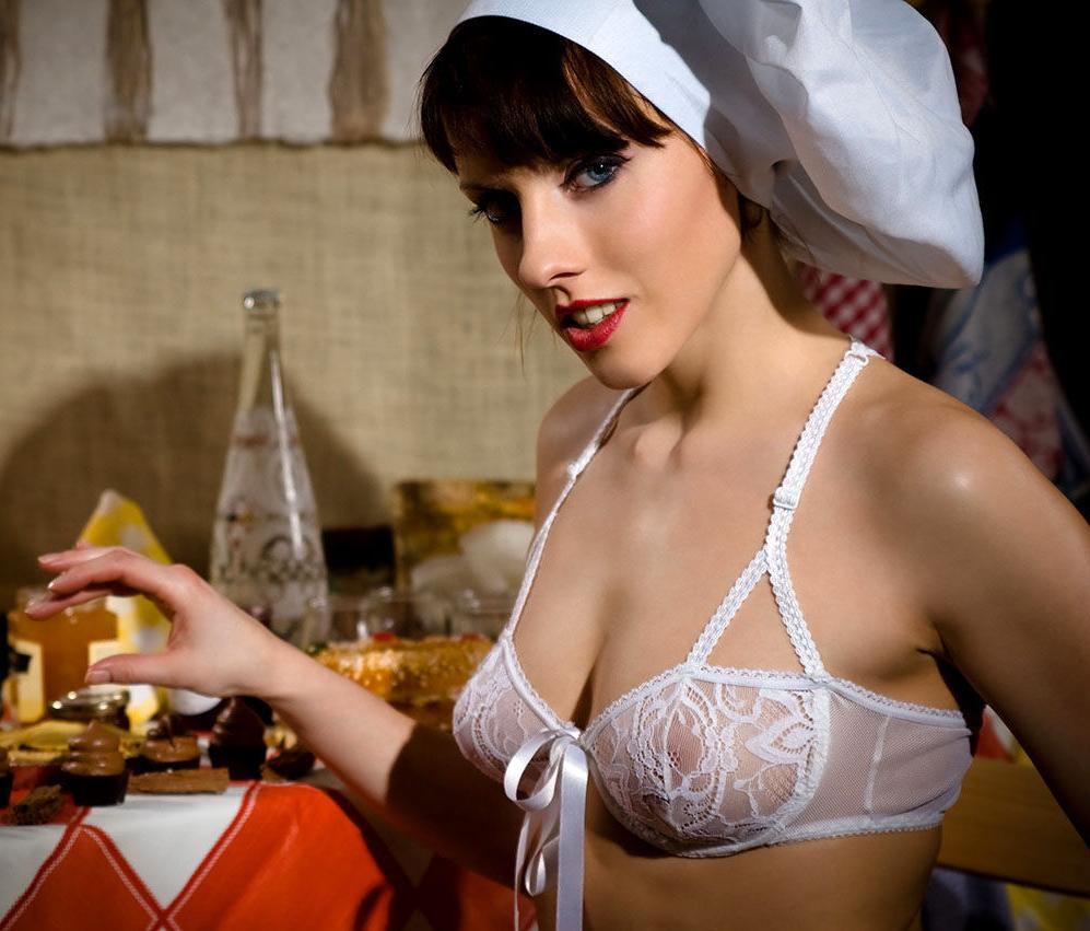 Sabine Mallory in lingerie - breasts