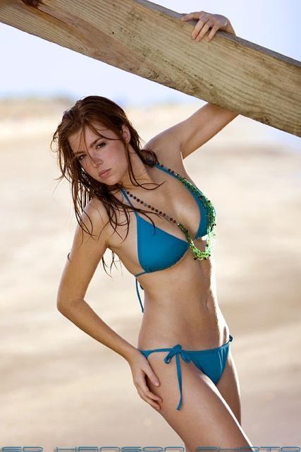 Jess Robinson in a bikini