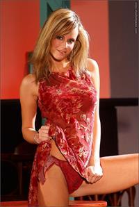 Zuzana Drabinova in lingerie