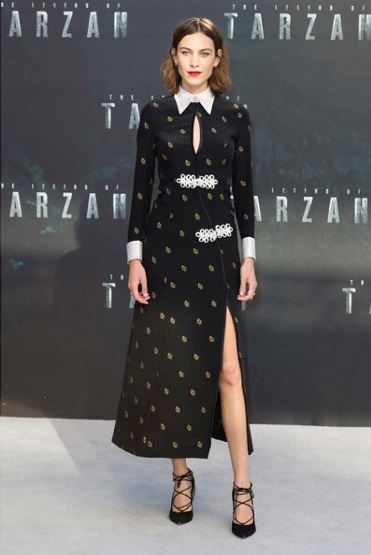 Alexa Chung in Tarzan premiere