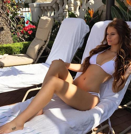 Hannah Stocking in a bikini