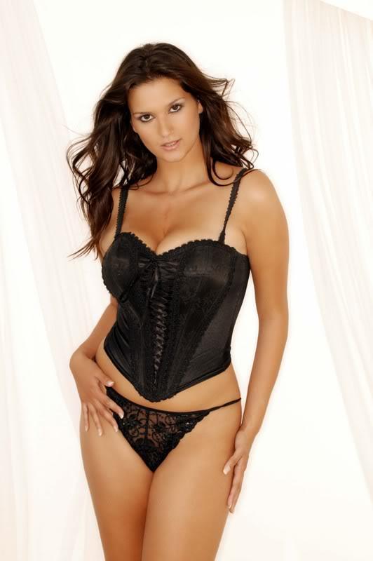Saskia Howard Clarke in lingerie