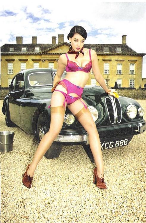 Daisy Lowe in lingerie