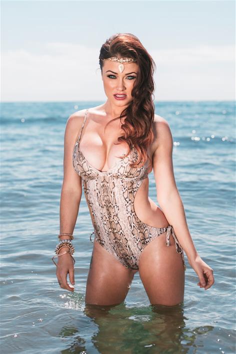 Jess Impiazzi in a bikini
