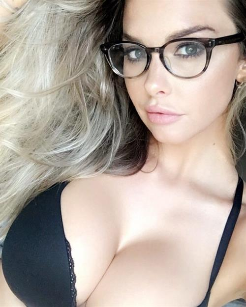 Emily Sears in lingerie taking a selfie