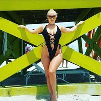 Molly Cavalli in a bikini