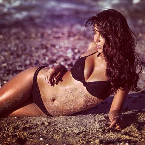 Anelia Moor in a bikini