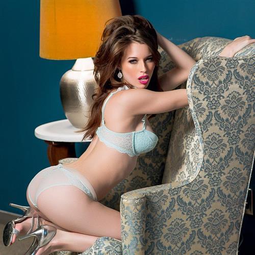 Caitlin McSwain in lingerie